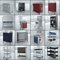 16 1 medical carts 3D model
