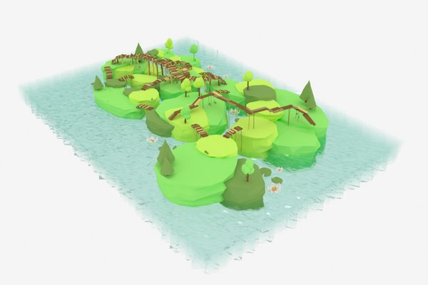 swamp island bridges 3D model
