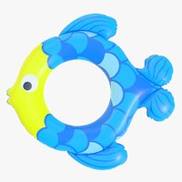 3D model realistic float ring fish