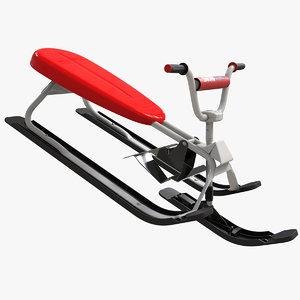 snowracer v2 3D model