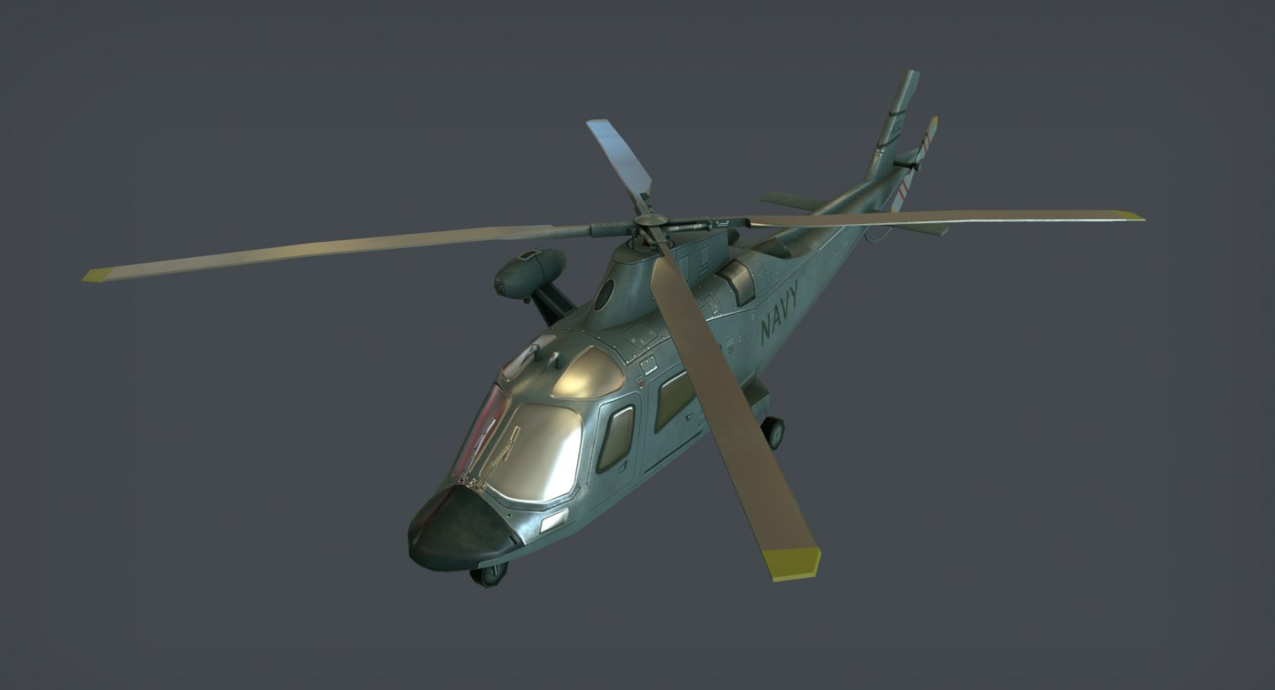 agusta aw-109 helicopter games model