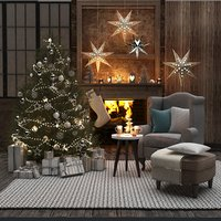 3D model christmas living room