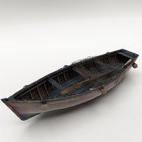 boat canoe ship model