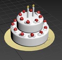 food cake dessert 3D model