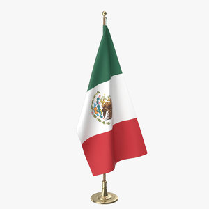 3D mexico office flag