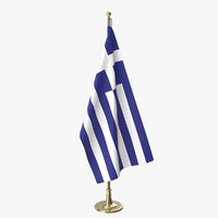 greek office flag 3D model