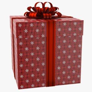 real gift box ribbon 3D