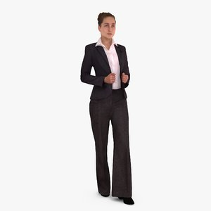 business woman standing human 3d max