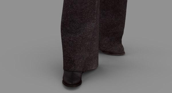 business woman standing people human 3d model