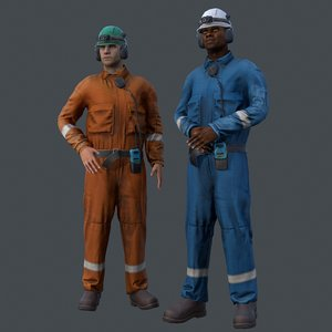 3D offshore workers real-time