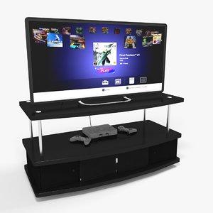 3D playstation classic tv model