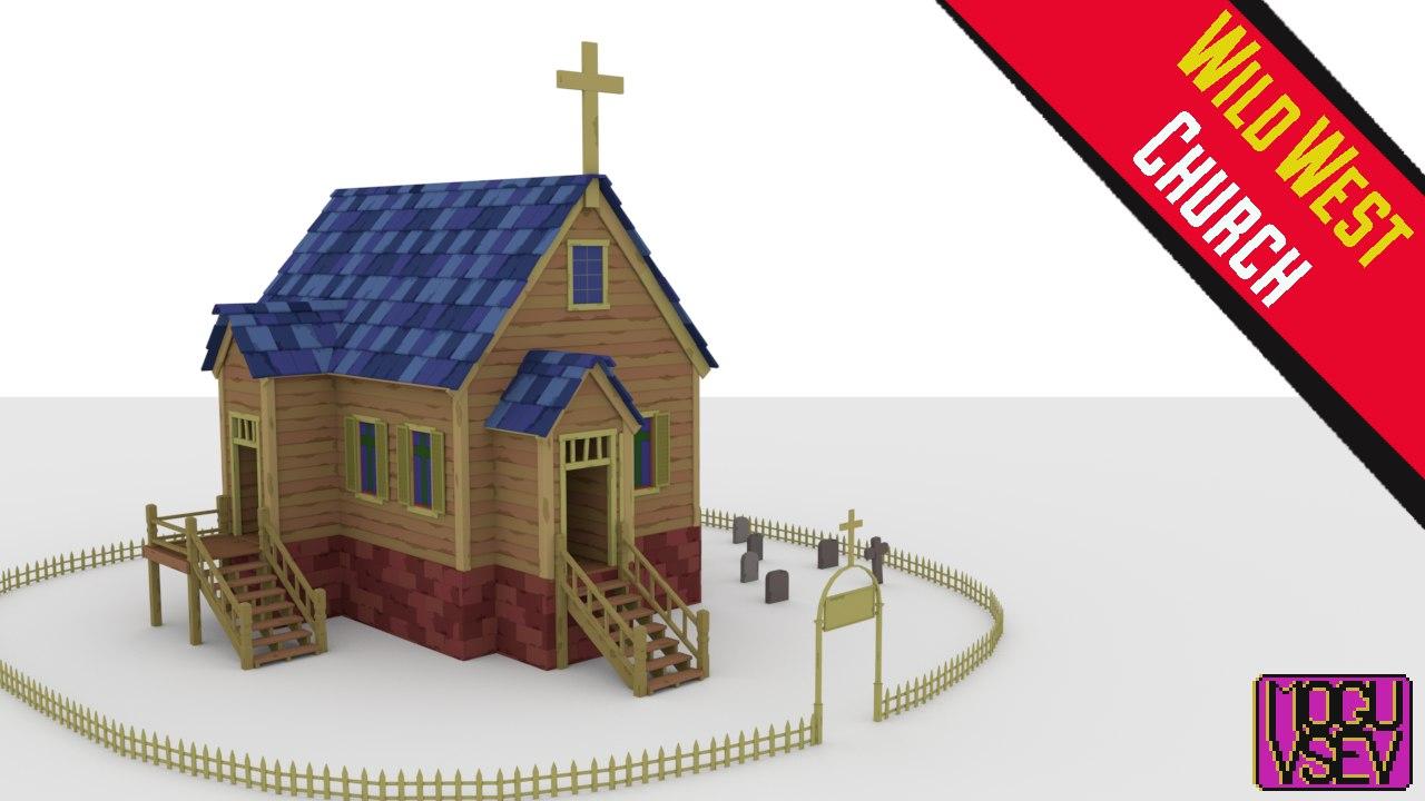 cherch 3D model