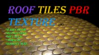 Roof tiles pbr texture