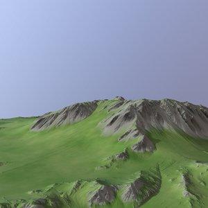 3D model landscape land scape