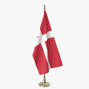 3D danish office flag model