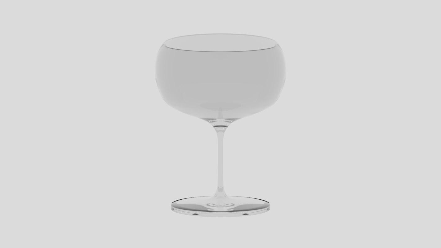 wine glass model