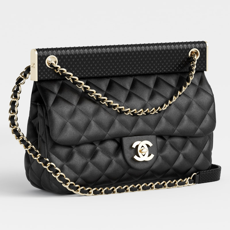 3D chanelhandbagsflap bagsleather