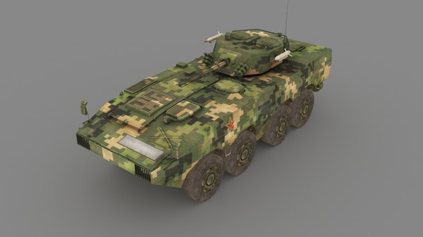 3D infantry fighting vehicle model