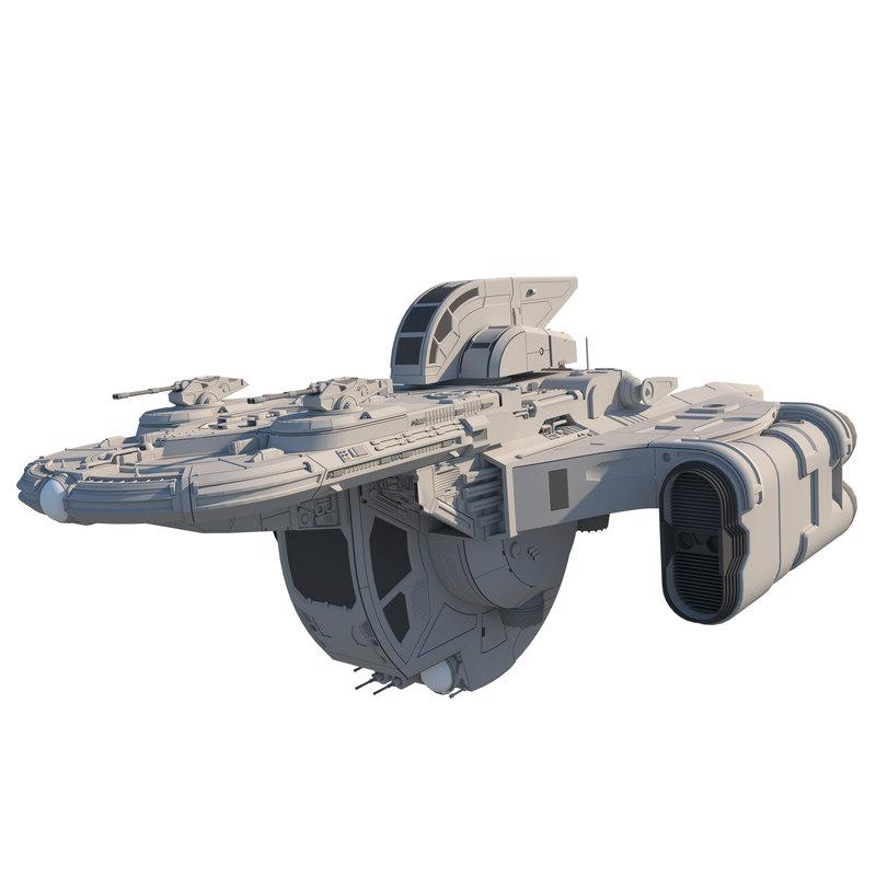 concept spacecraft tz1 3D model