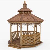 3D model gazebo shelter