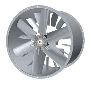 3D industrial axial fan