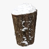 tree trunk seat snow model