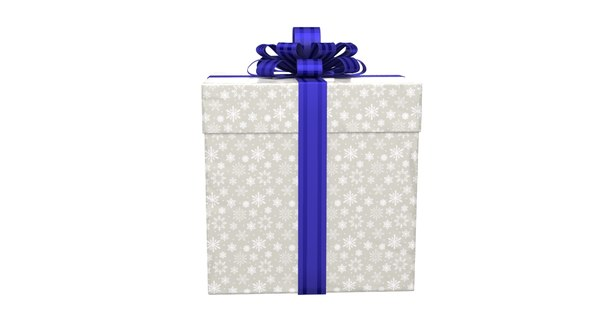 3D real gift box model