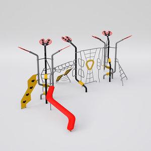 ladybird playground set 3D model