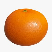 3D realistic mandarin tangerine model