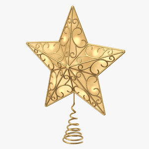 3D star topper tree model