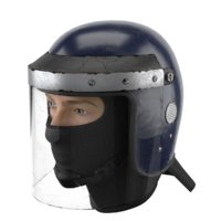 3D used police riot helmet model