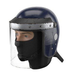 3D used police riot helmet model