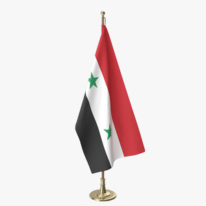 syrian office flag 3D model