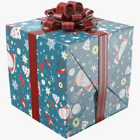 3D real gift box model