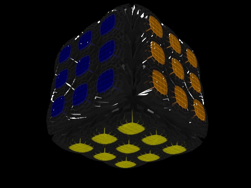 techno cube 3D model