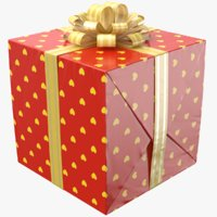 3D real gift box ribbon