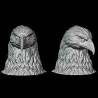 3D bald eagle bust