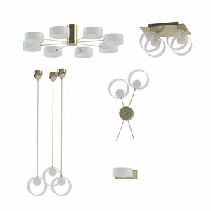 3D ceiling chandelier lussole set