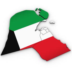 kuwait regions 3D model