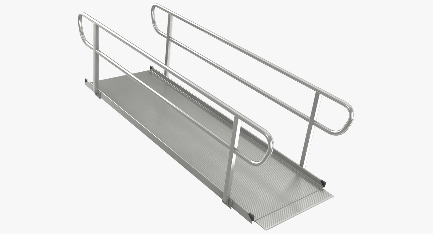 3D wheelchair ramp large model