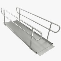 3D wheelchair ramp large model