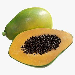 realistic papaya 3D