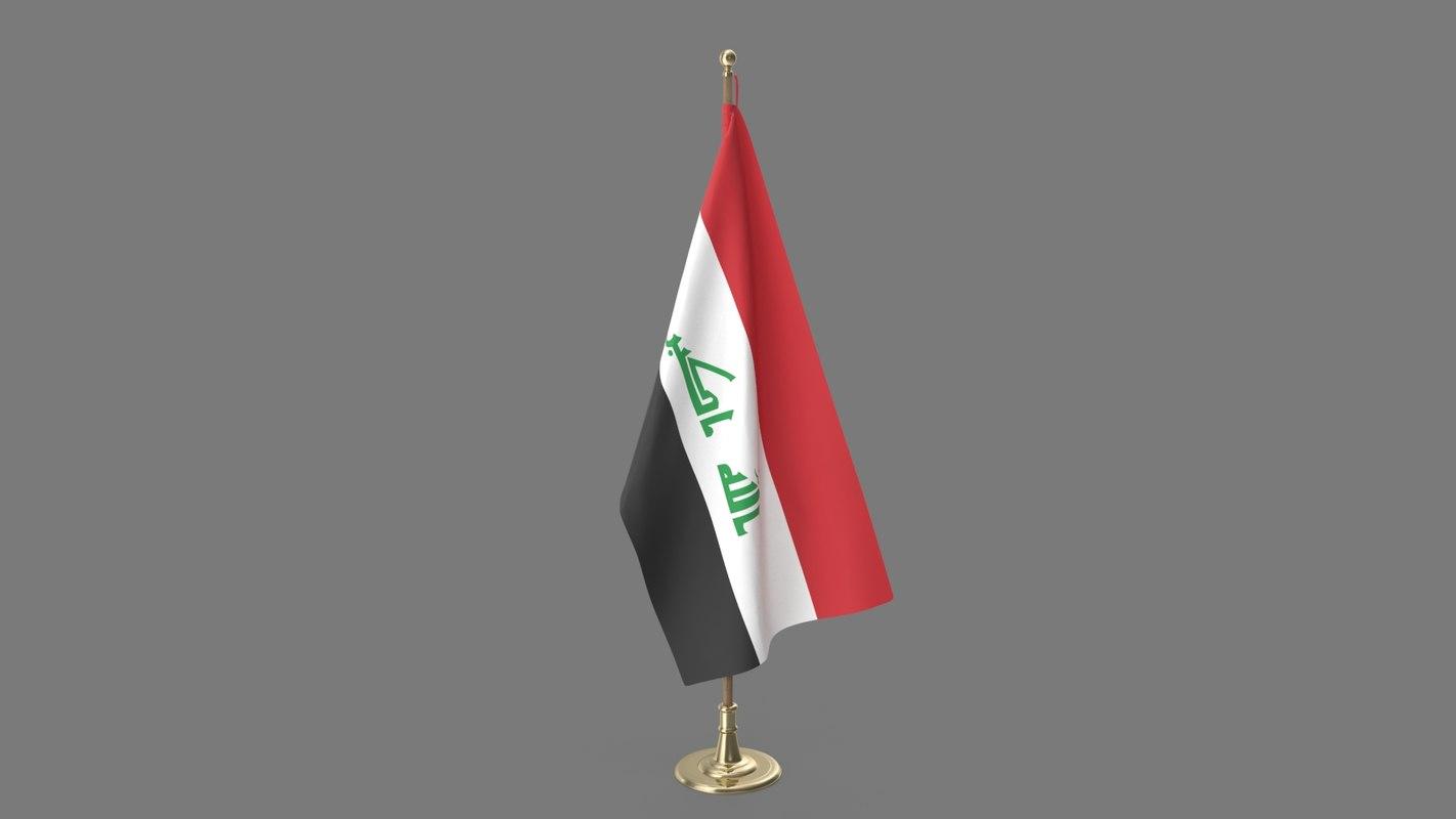 iraq office flag model