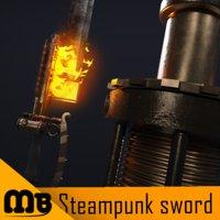 3D sword steampunk