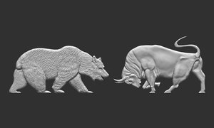 financial bear bull 3D model