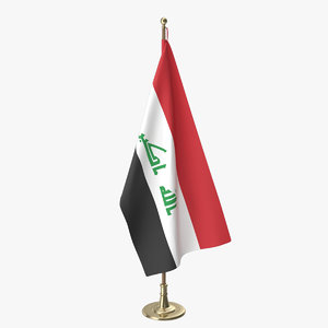 iraq office flag model
