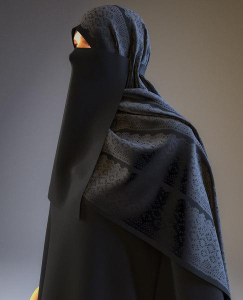 3D arab woman