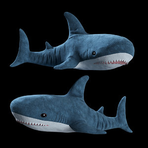 toy shark ikea blahaj model
