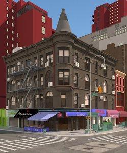 3D ny city 6th avenue model