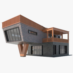 contemporary house interior 3D